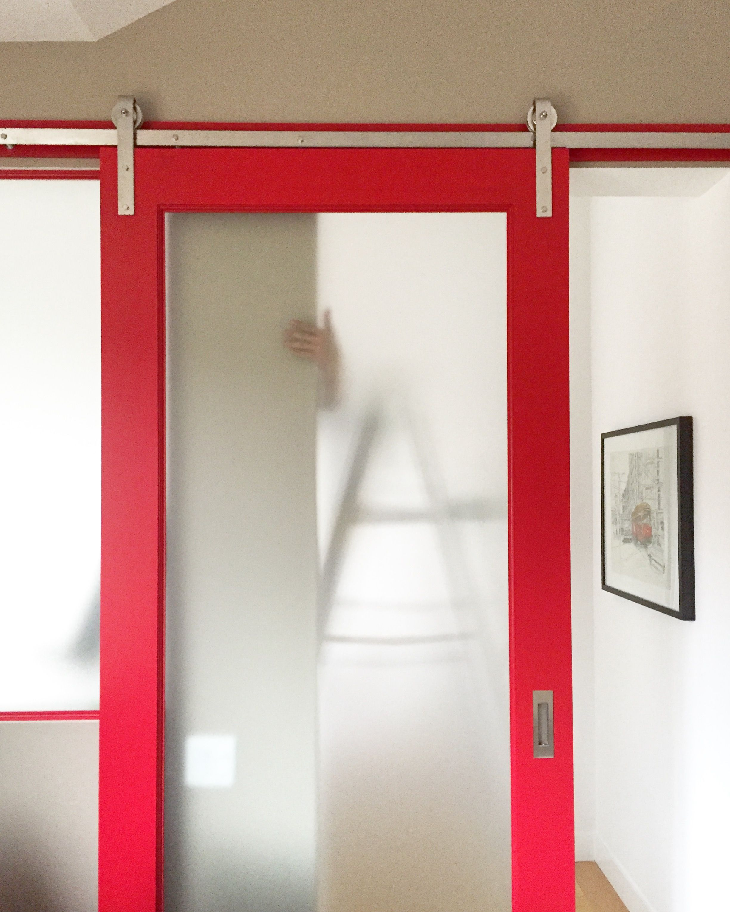 Red Door We Made To Go On Our Very Own Stainless Steel Hardware. Made In