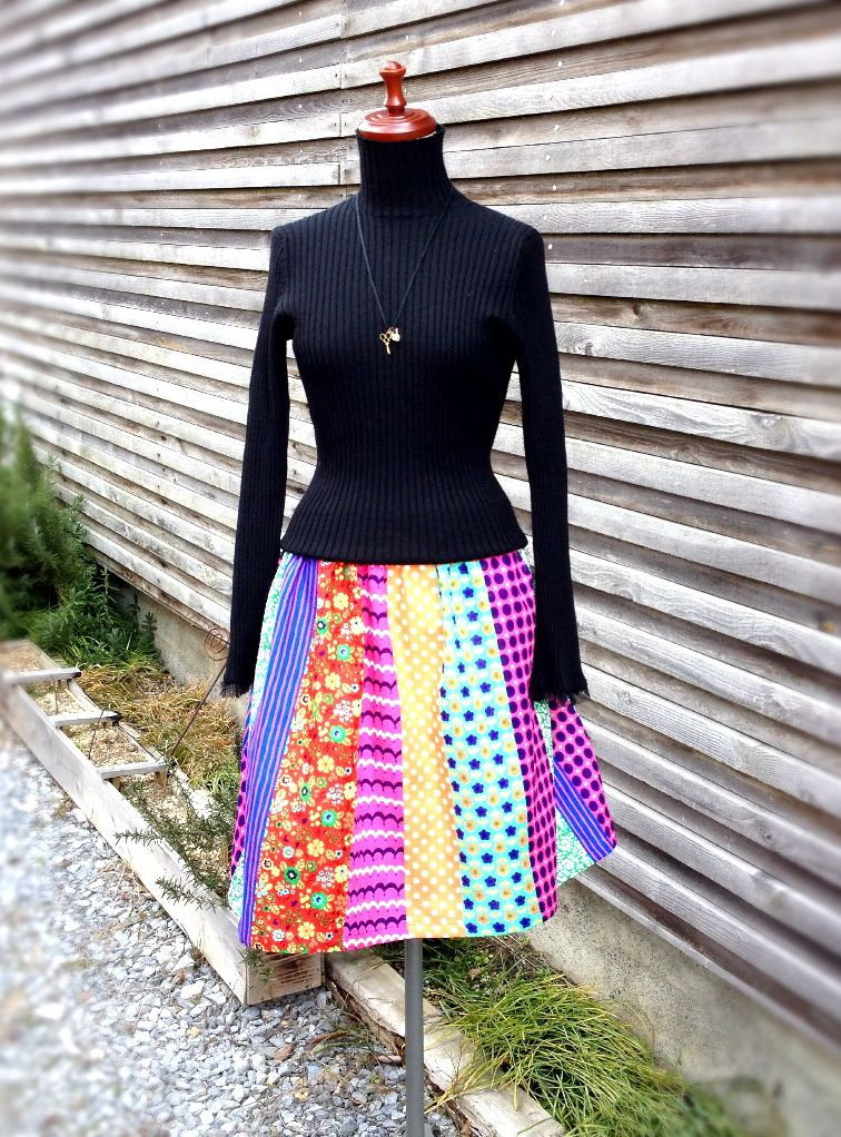 Gathered skirt tutorial : Kokka
