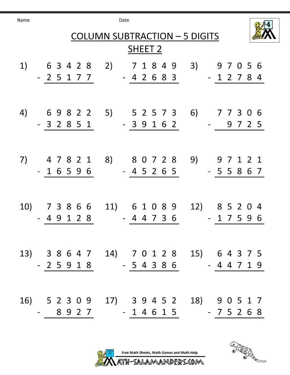 medium resolution of 16 Printable Math Worksheets For 4th Graders   4th grade math worksheets