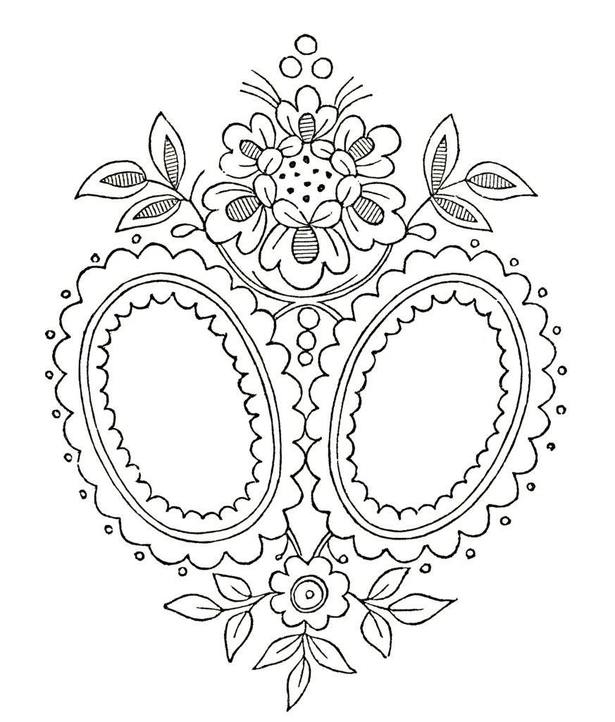 Vintage Monogram Embroidery Pattern | Estaño, Bordado y Molde