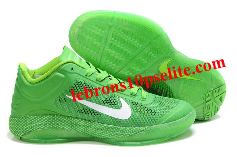 Nike Zoom Hyperfuse Low X Men Green White Basketball Shoes