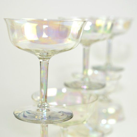 5549a59a239 iridescent crystal goblets | Iridescent Luster Crystal Cordial Stemware  Goblets - Beautiful Aurora .