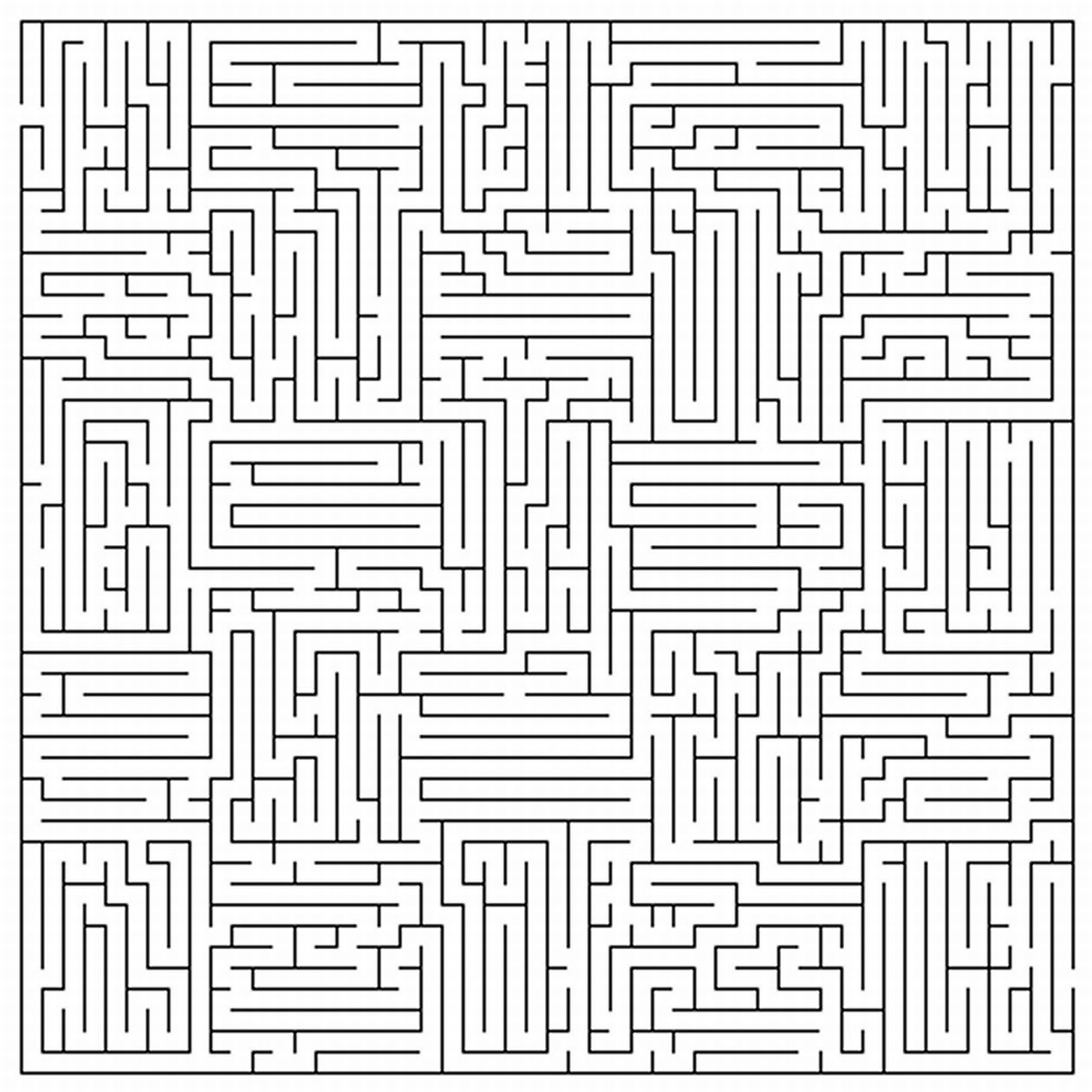 maze coloring pages # 1