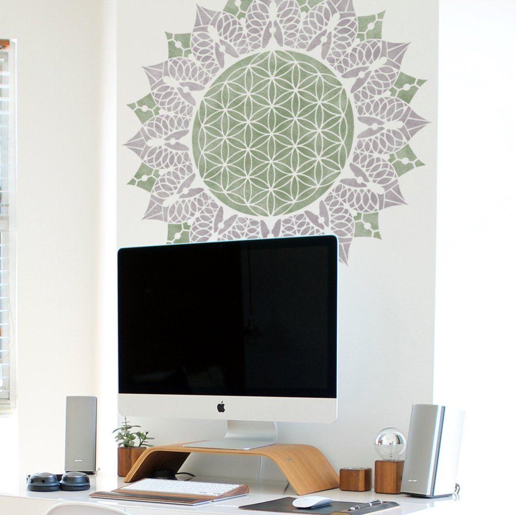Mandala stencil flower of life stencil mandala style stencil mandala stencil flower of life stencil mandala style stencil flower of life design wall stencil geometric design amipublicfo Gallery