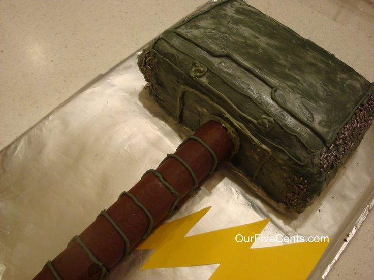thor hammer cake Super easy way to make a Thors hammer cake