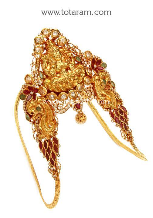 22K Gold Lakshmi Arm Vanki Temple Jewellery