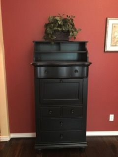 Stanley Furniture Company Cottage Secretary Desk In A Chalkboard