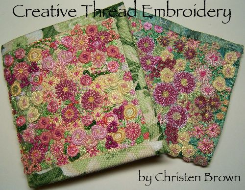Creative Thread Embroidery Needle-Case - Christen Brown