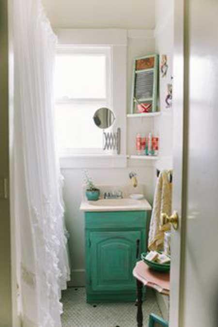 decorar-cuarto-baño-pequeño-14 | Baños pequeños | Pinterest | Baño ...