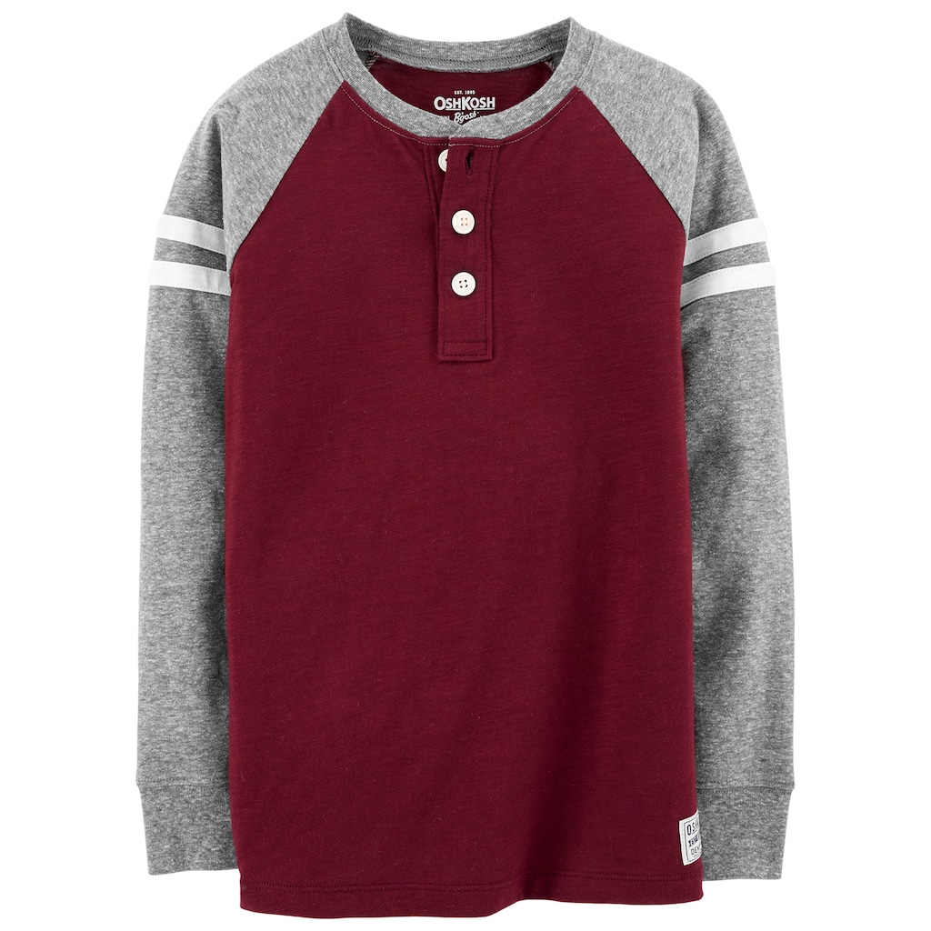 81c37ea34 Boys 4-12 OshKosh B'gosh® Striped Raglan Henley in 2019 | Products ...