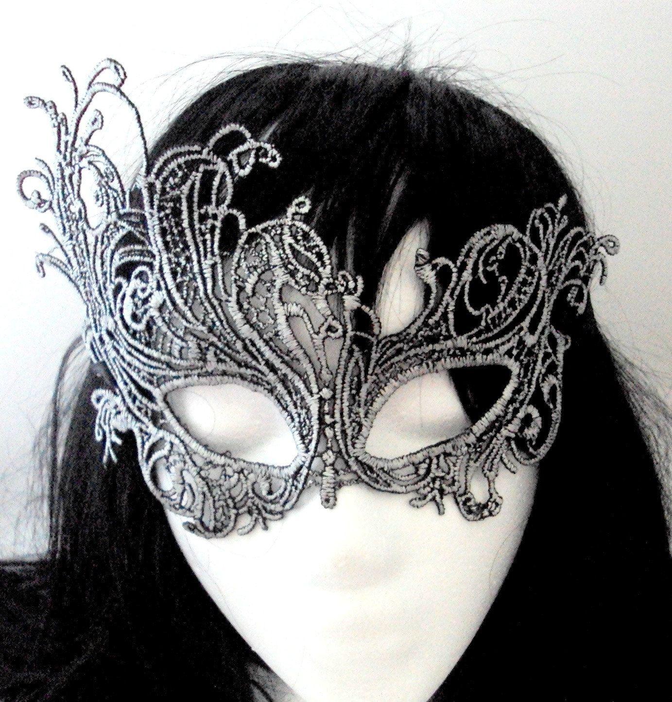 Lace Mask, Masquerade Mask, Wedding Mask, Silver Eye Mask ...
