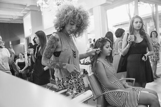 Hairstylists from Austin Fashion Week.