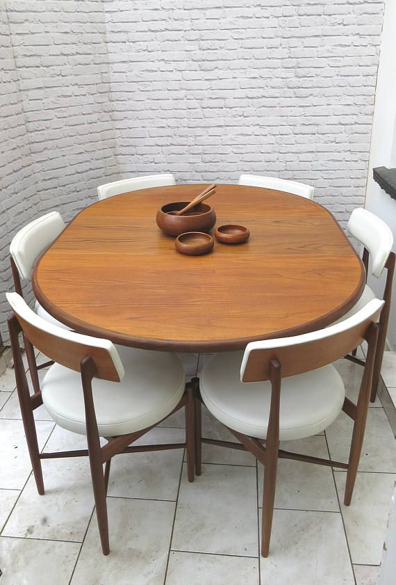 Mid Century G Plan Fresco Circular Extending Dining Table And Chairs  #diningset #danishdesign #