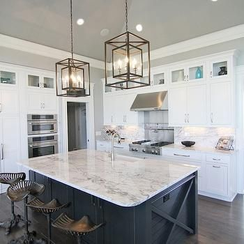 Navy Kitchen Island, Transitional, kitchen, Great Neighborhood Homes ...
