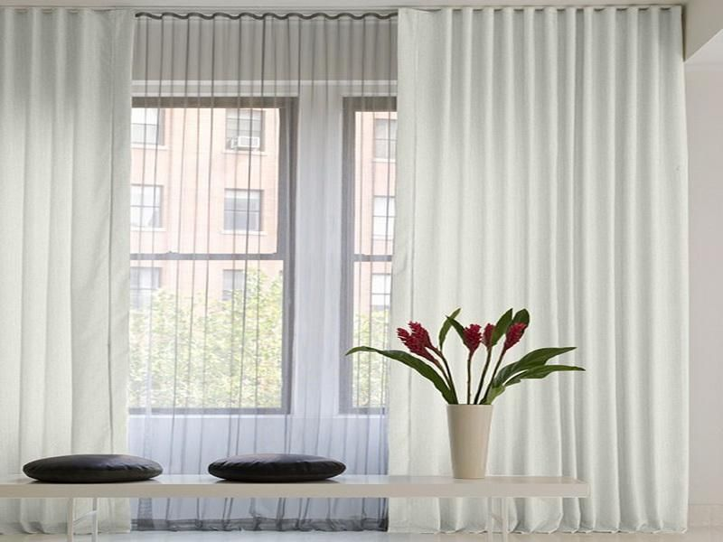 modern ceiling curtain track ripple fold - Ceiling Curtain Track
