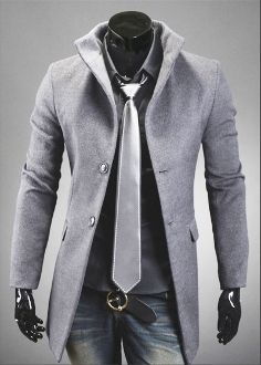 Men's High Collar with Back Leather Details