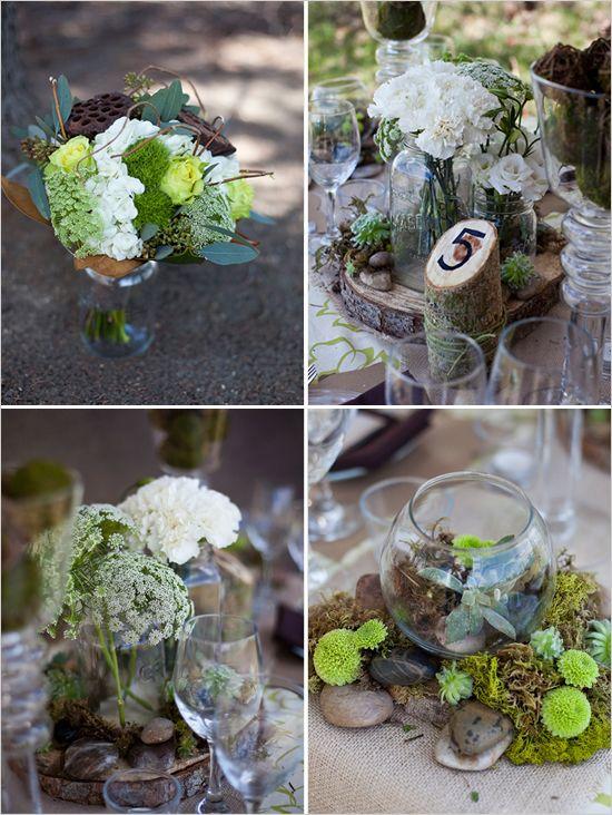 Mousse et bois green wedding pinterest green - Mousse decoration ...