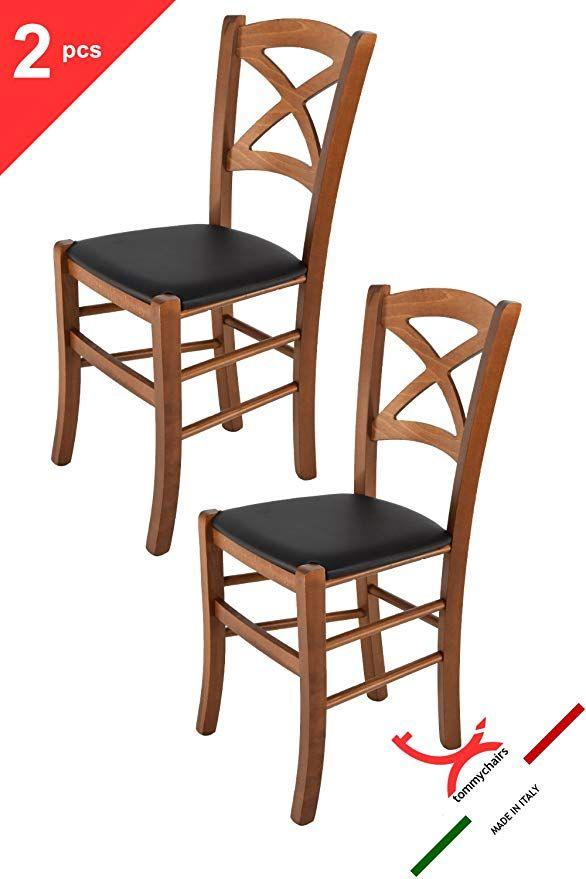 Tommychairs Set 2 sedie classiche CROSS per cucina, bar