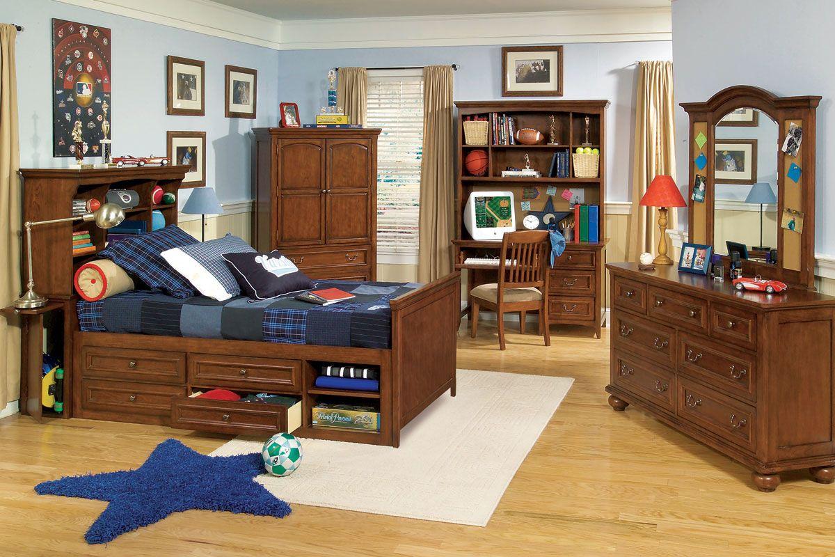 Garrett Twin Or Full Boys Wood Bedroom Inspiration Furniture Set Home Kid Pinterest And
