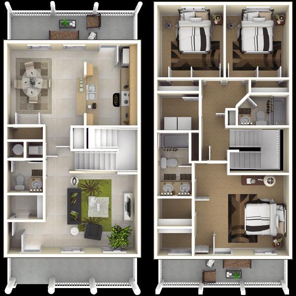 Nsa Jrb New Orleans Belle Chasse Neighborhood 3 Bedroom 2 5 Bath Home Floor Plan Nsa Jrb