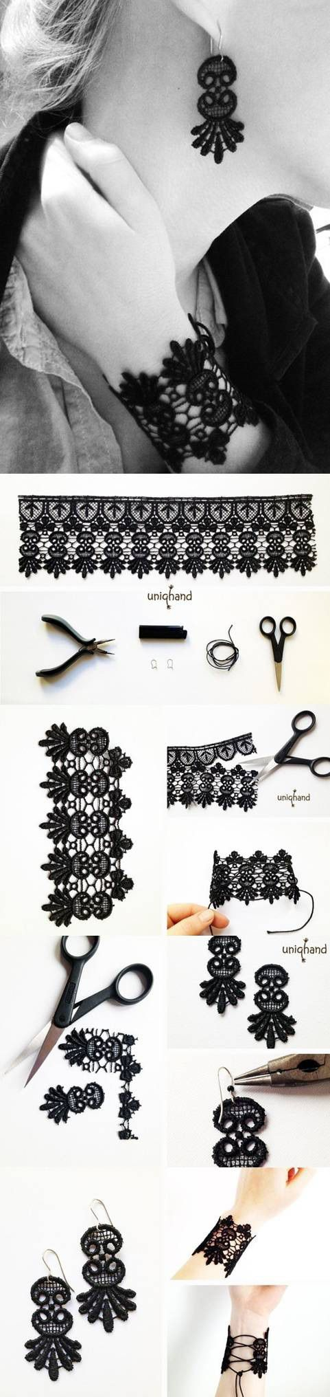 diy-lace-bracelet-and-earrings
