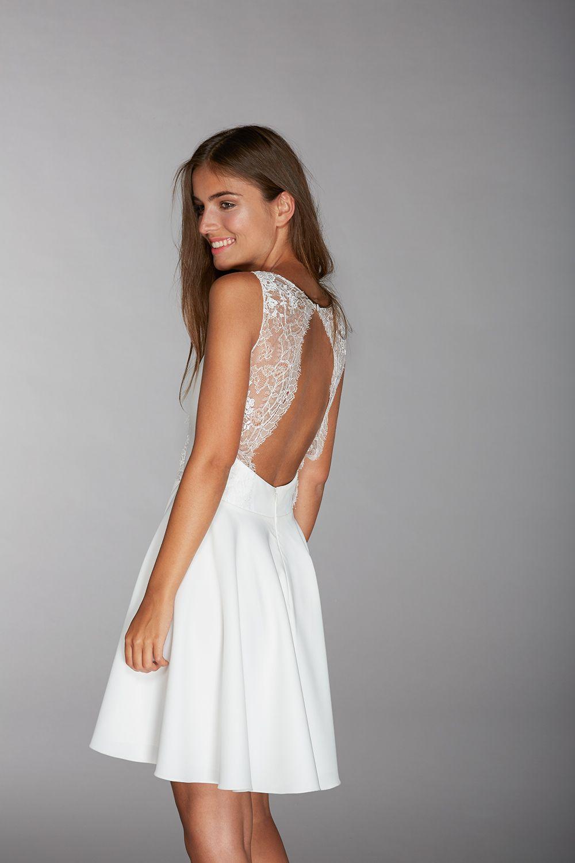 Vesper - Collection 2016 - Robe de mariée courte - dentelles - dos ... 8153dc514f6d