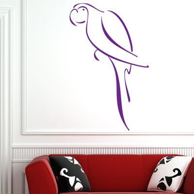 "Style and Apply Abstract Parrot Wall Decal Size 64"" H x"