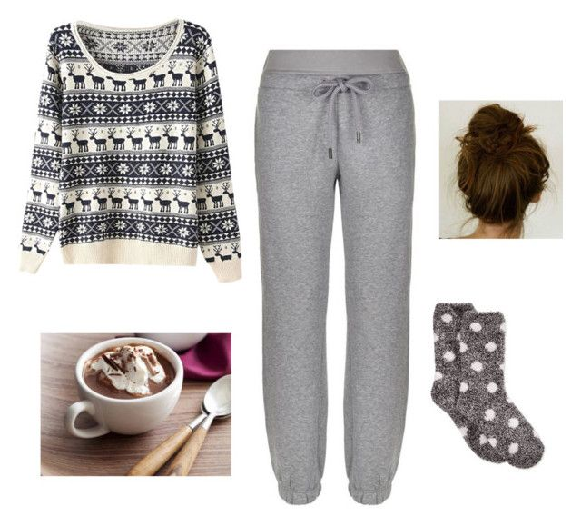 """""""Christmas movies marathon"""" by yariashlie on Polyvore featuring beauty, adidas and Charter Club"""
