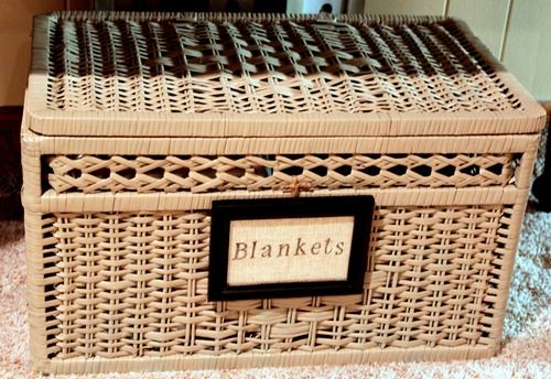 Pin By Tammy Finch On Baskets Pinterest Blanket Basket And Large