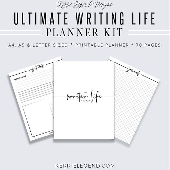 Ultimate Writing Life Planner Kit, 70 Pages Dual-Purpose
