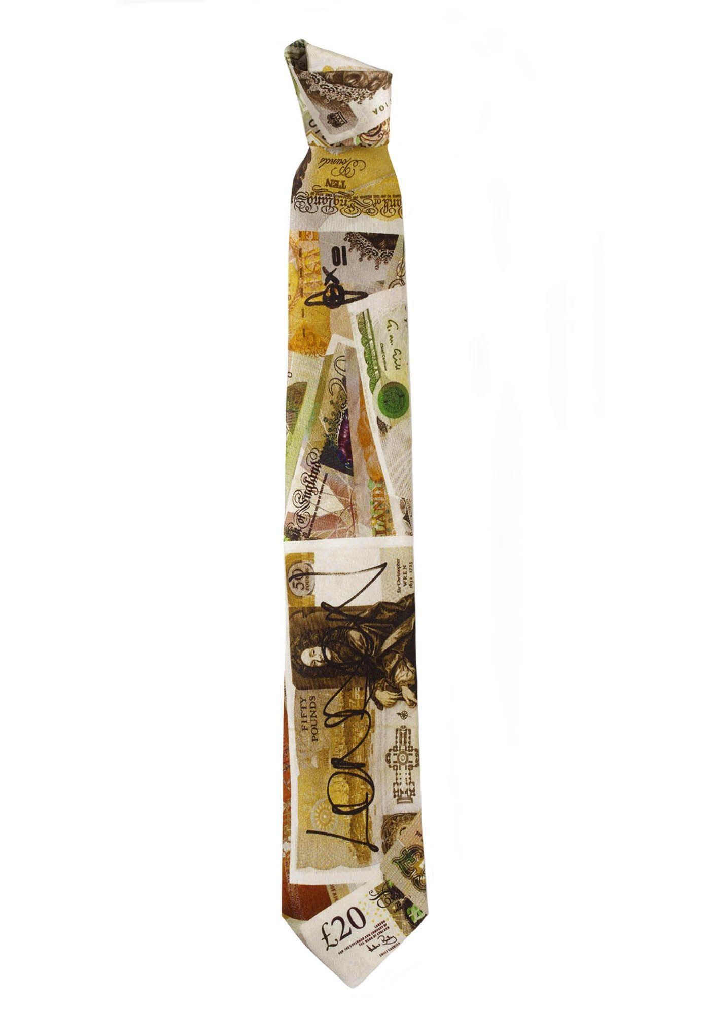 Money Print TIE by Vivienne Westwood