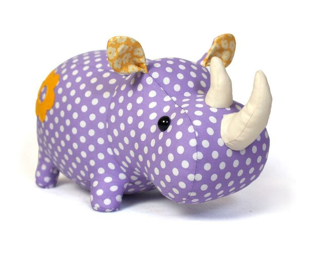 Rhino sewing pattern - stuffed animal tutorial PDF | Nashorn ...