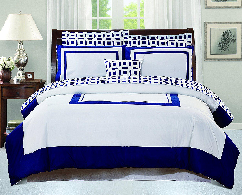 Best Amazon Com Utopia Bedding Queen Bedroom Set Blue 8 400 x 300