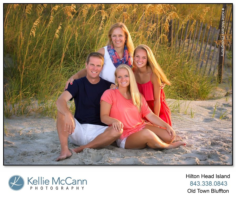 Hilton Head Photographer Kellie Mccann Photography Specializes In Family Beach Portraits On