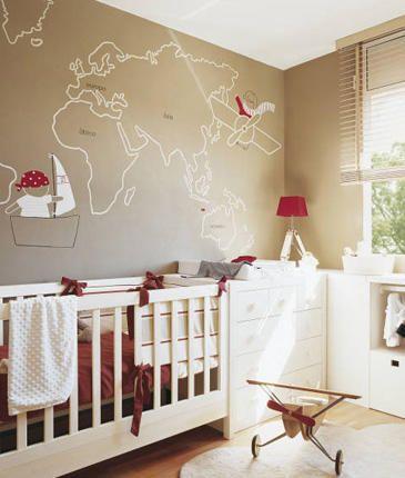 World Traveler Nursery Theme Love The Little Pirate Boy Map On Wall