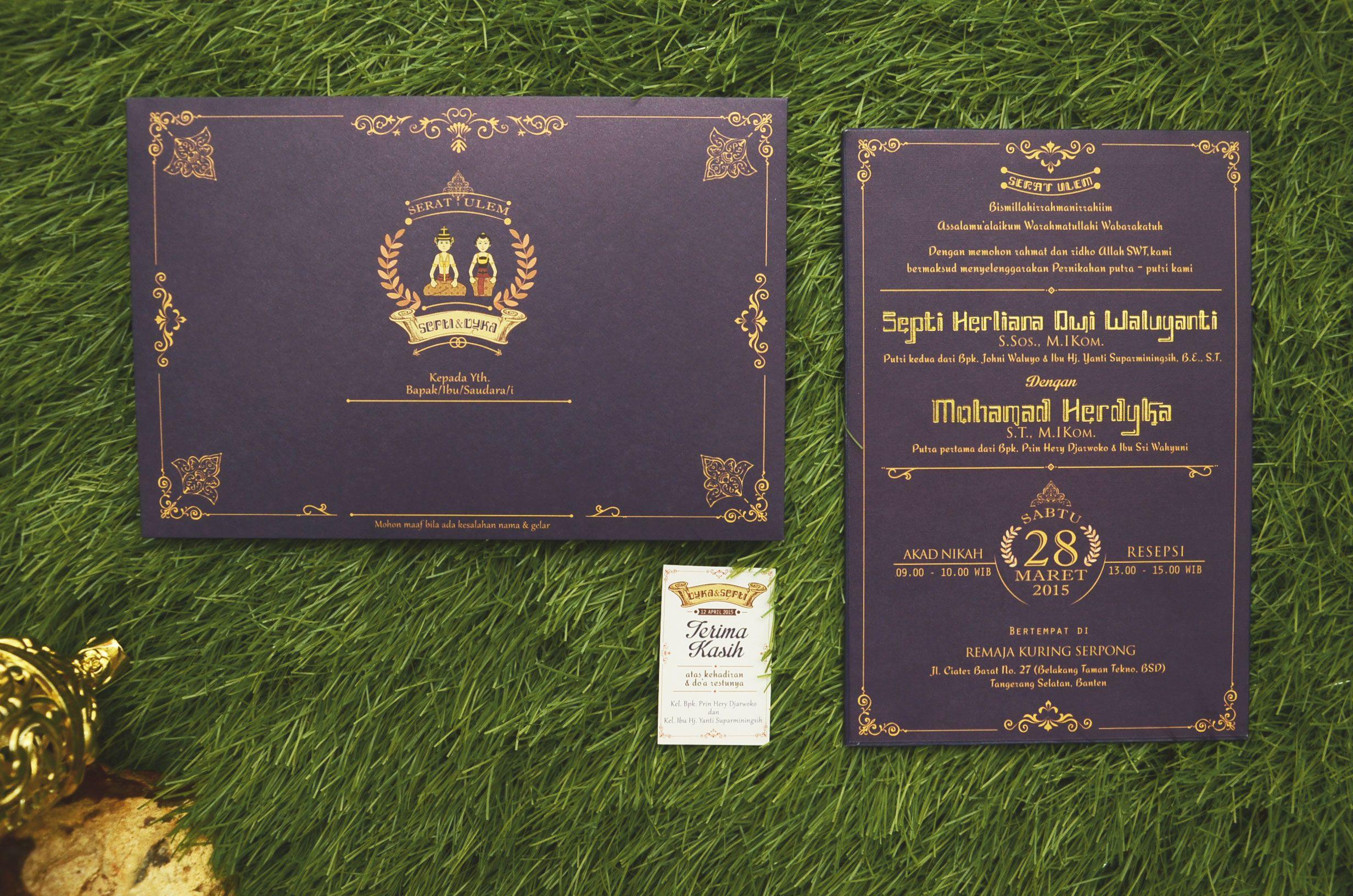Septi And Dyka Wedding Invitation Undangan Perkawinan Kartu Undangan Pernikahan Undangan Pernikahan