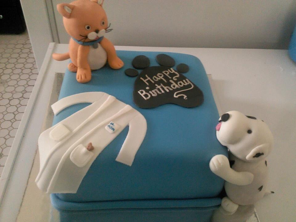 VetBirthday Cake cakepinscom Ideias para bolos Veterinria