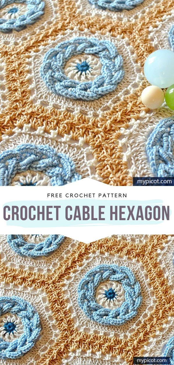 Photo of How to Crochet Crochet Cable Hexagon