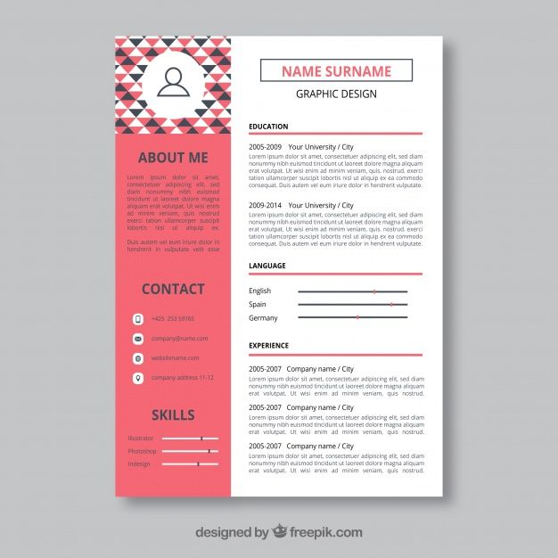 free vector graphic designer resume template 24120 business