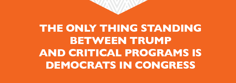 The only thing standing between Trump and these critical programs is Democrats in Congress. Help elect even more pro-choice Democratic women who will join the fight.