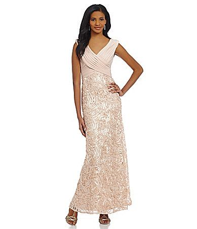 This Is The Dress I Bought It Patra Sequined Ribbon Soutache Gown