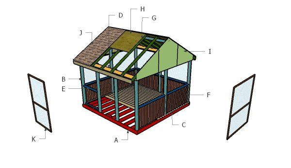 how to build a screened in gazebo