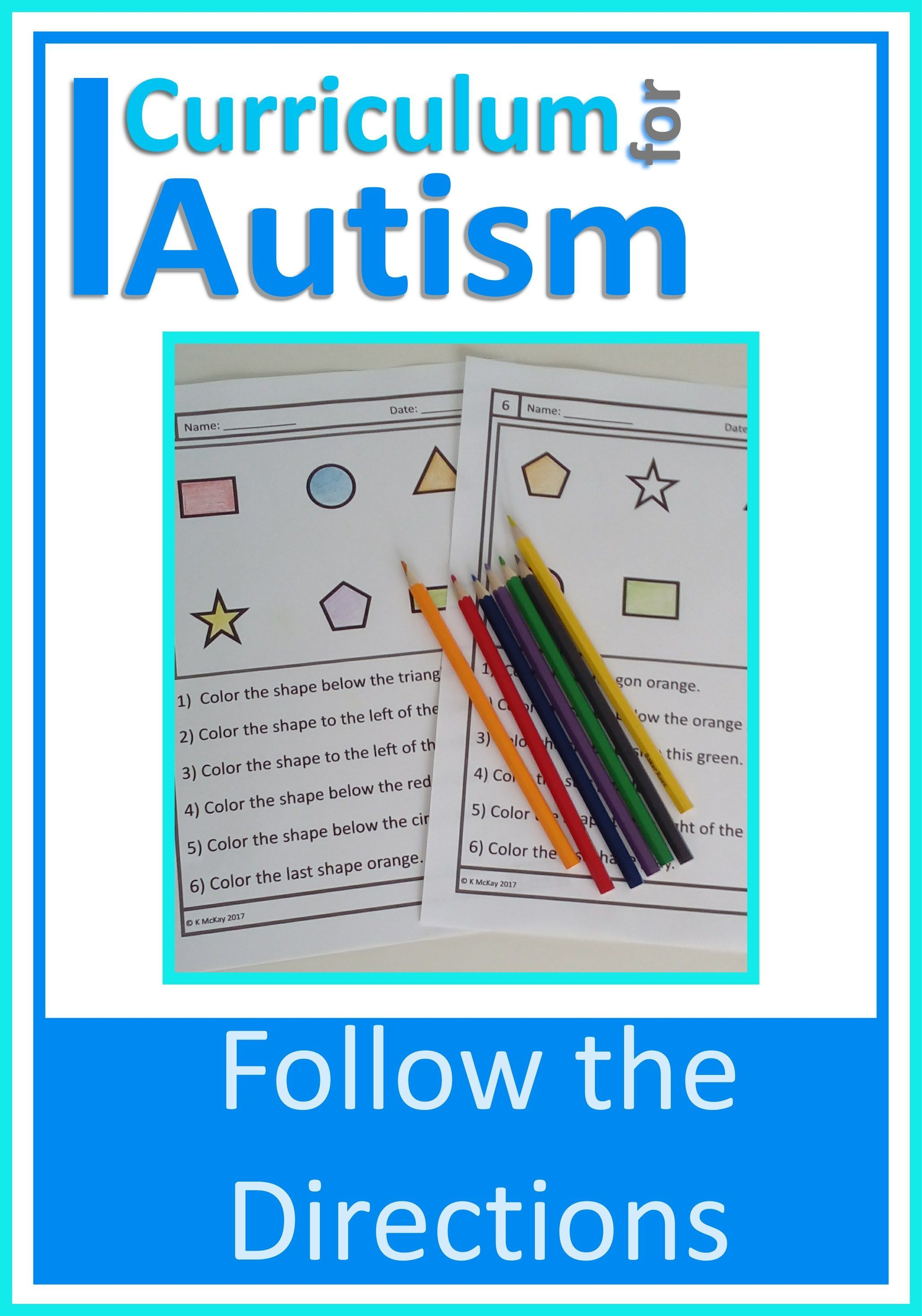 Following Direction Read Amp Color Worksheets