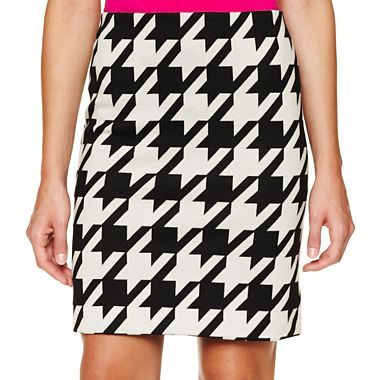 611c720f7 Worthington® Houndstooth Ponte Pencil Skirt - Petite - jcpenney   If ...