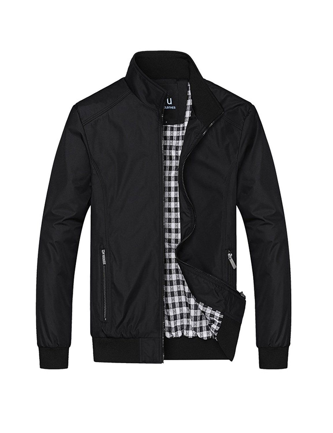 9537372a143 Mens Long Sleeved Classic Bomber Jacket Casual Coat Outdoor ...