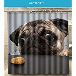 Pug Dog Shower Curtain Dog Shower Cute Shower Curtains Friends