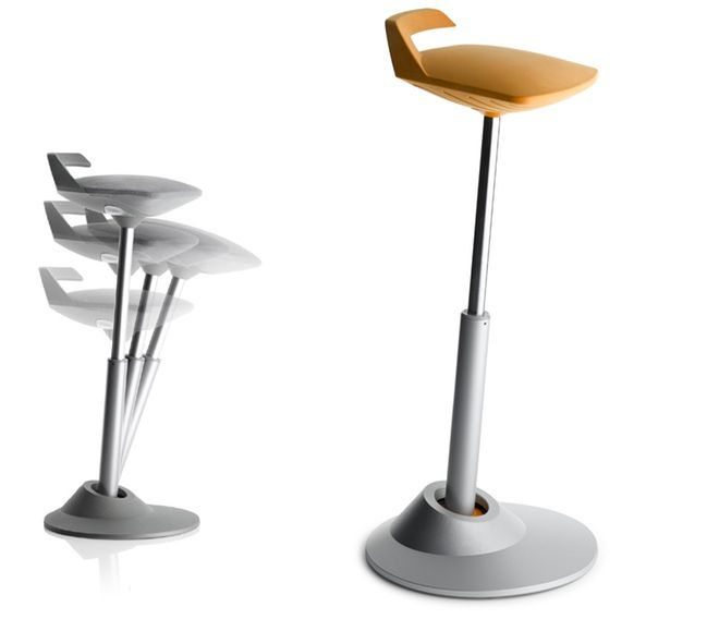 Stool-Chair Hybrid Swings into the Office | Stool chair, Stools and ...