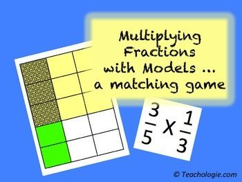 A cool fractions matching game for students to learn and assimilate using pictorial models to match fractions.  It can be used as a workstation activity or a game.  It can also be used as a cooperative learning activity with Kagan Structures.