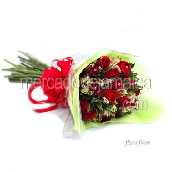ramo con flores rosas rojas conquistame envia flores