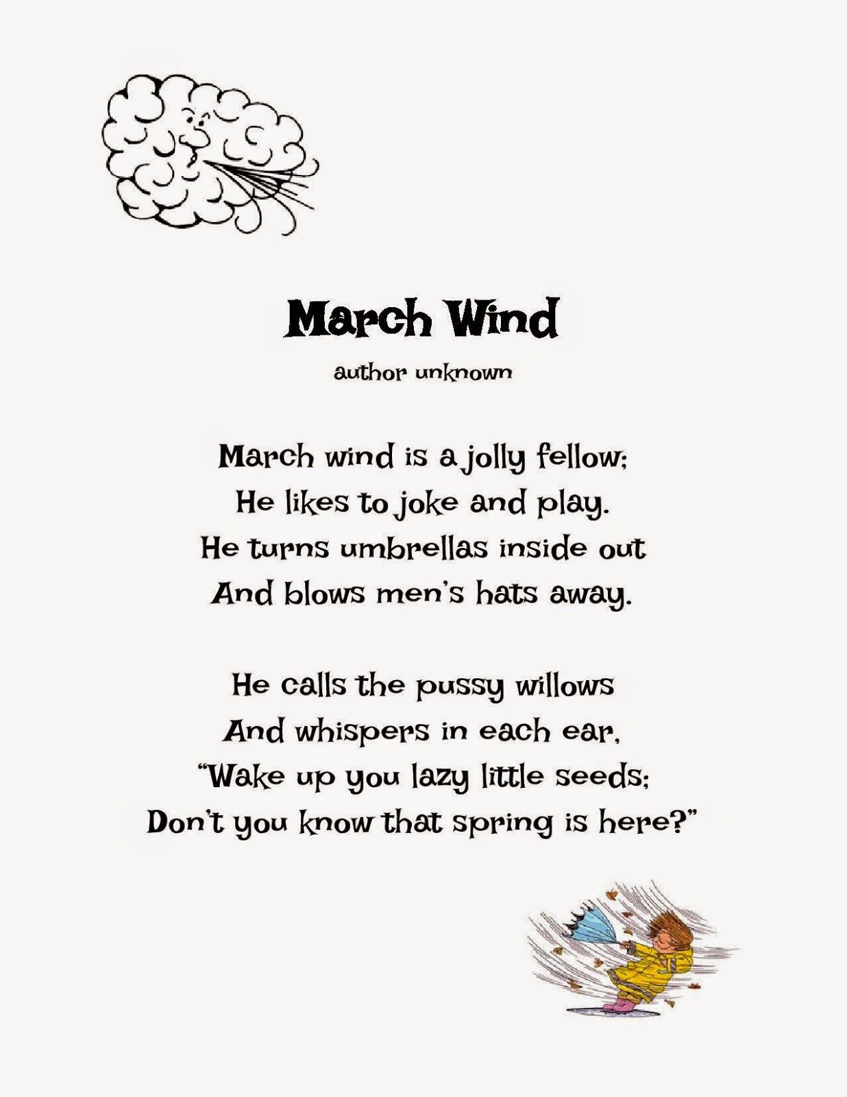 HMS Title 1 Reading: Poem of the Week ~ March Wind | Poems